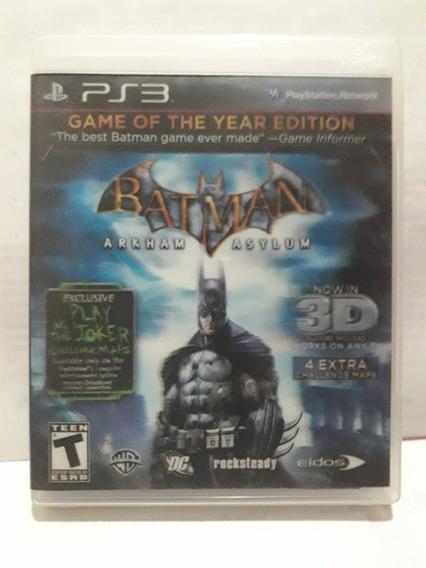 Batman Arkham Asylum 3d Ps 3