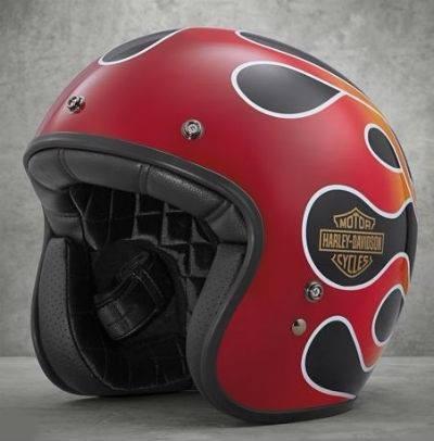 Capacete Harley-davidson Retro Flame 3/4. Tamanho G E 2xl