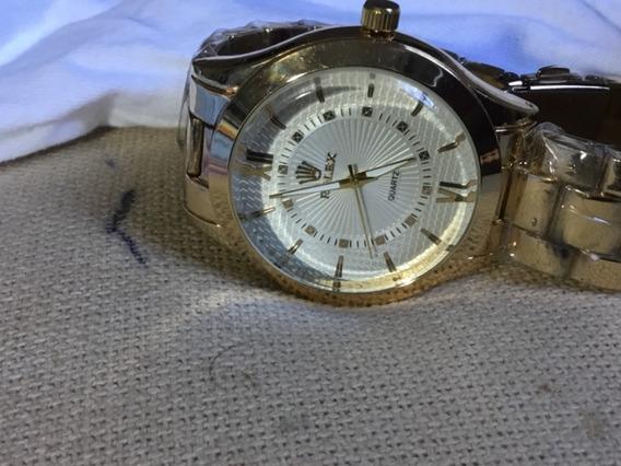 Relógio Rolex, Sem Uso, Todo Dourado, Masculino, Lindo
