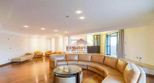 Imagem 1 de 30 de Apartamento Com 5 Dormitórios Para Alugar, 450 M² Por R$ 6.500/mês - Jardim - Santo André/sp - Ap0647