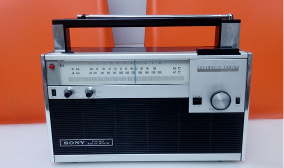 Radio Antigo Am/fm Sony 7fa70wa Automatic Tuning Funcionando