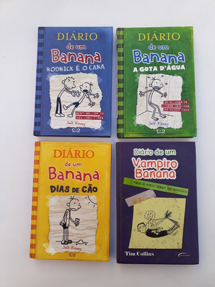 Coleção Diário De Um Banana Com 4 Livros Infantis E Juvenis