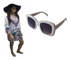 Bata Camisão Indiana Saída Praia Plus Size + Óculos De Sol