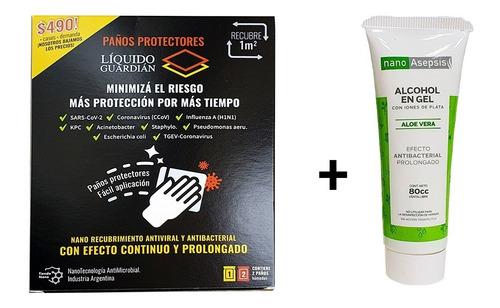 Antimicrobial Coating Wipes Liquid Guard + Alcohol Nano 80cc