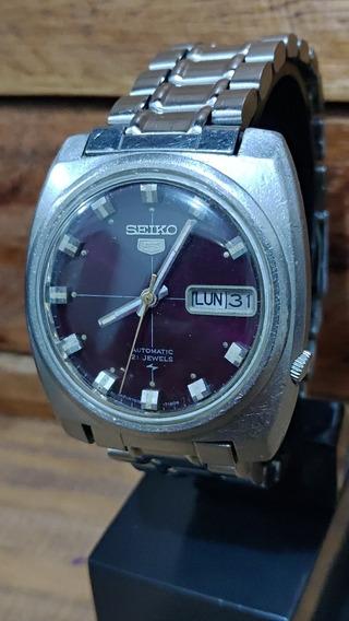 Relógio Seiko 7019 Lindo Mostrador Roxo (leia A Descrição)