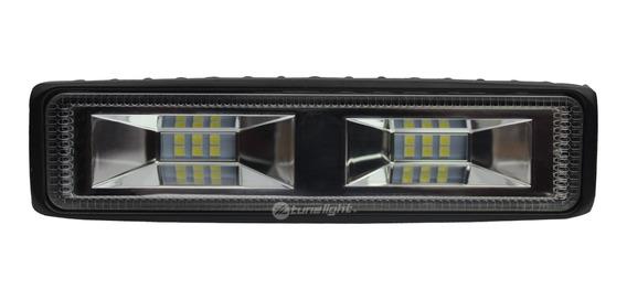 Mini Barra Led 18w Luz Concentrada Estrobo C/12 Led 3030 12v