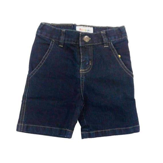 Pantalon Corto Short Jean Infantil Marca Pampero