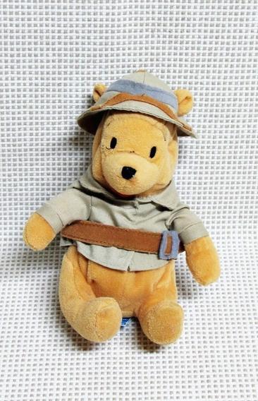 Urso Pooh Safari Pelucia Disney 17 Cm Bau16