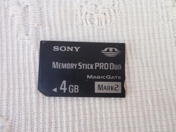 Cartão De Memoria Sony Memory Stick Pro-duo 4gb Original Psp