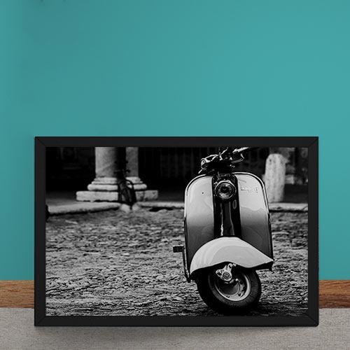 Quadro Decorativo Lambretta Fotografia