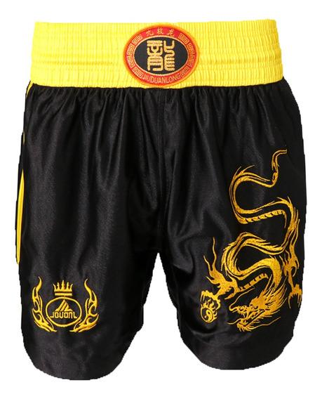 Unisex Adultos Muay Thai Boxe Uniforme Sanda Combate Bermuda