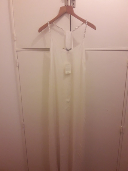 Vestido Cardon De Seda Espectacular