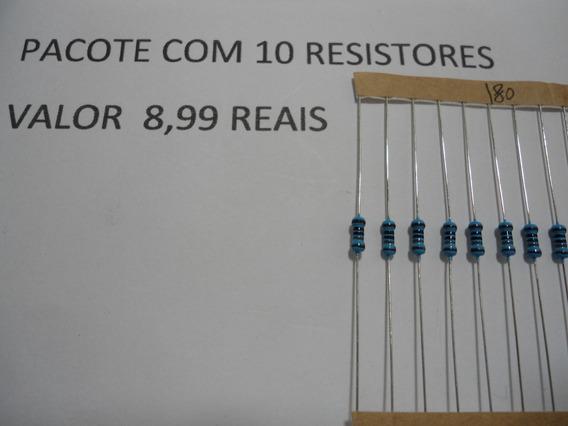 Resistor / 180r X 1/4w - 1% De Tolerancia - Envio Por Carta