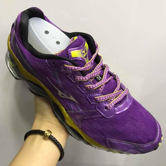 Tênis Mizuno Wave Prophecy 2 Importado Violeta Com Dourado