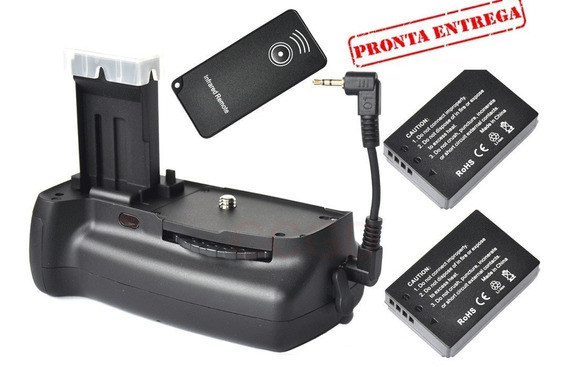 Grip Bateria Canon 100d Rebel Sl1 Slr Câmera + 2x Bateria