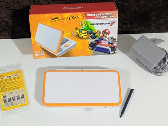 New Nintendo 2ds Xl Completo + 32 Gb Com Muitos Jogos