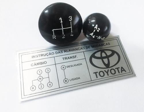 Imagem 1 de 2 de Manopla Bola Câmbio Plaqueta Toyota Bandeirantes 4 Marchas