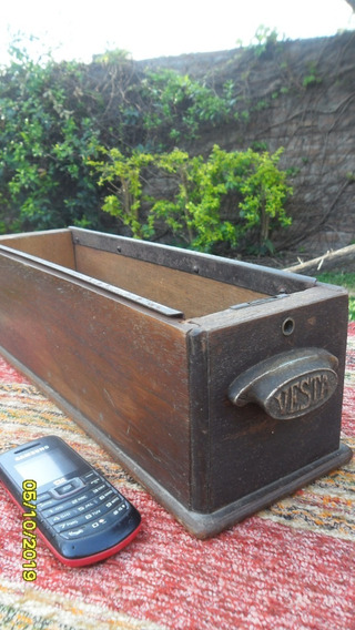 Lindo Antiguo Cajón Máquina Coser Organizador Vesta