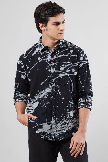 Camisa Regular Jacquard Splash Reserva