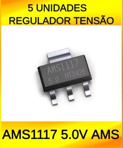 5 Unidades Regulador Tensao Ams1117 5.0v Ams