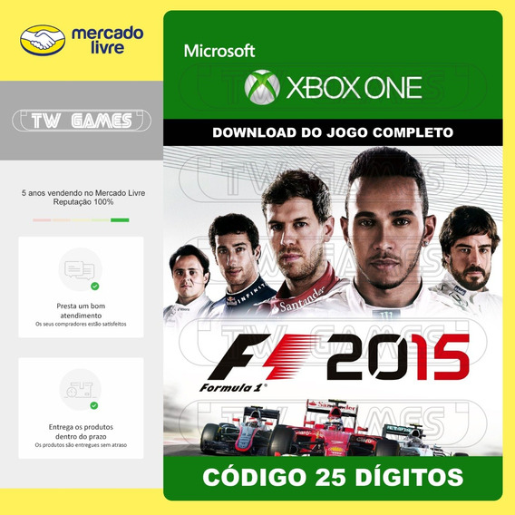Formula 1 F1 2015 Codigo 25 Digitos Original Xbox One