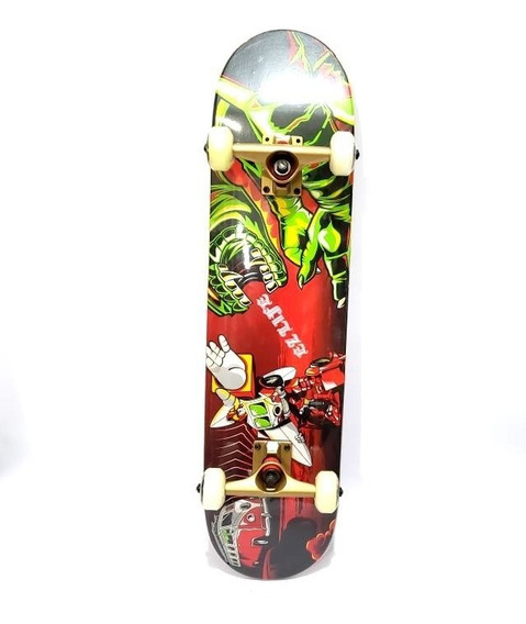 Skate Profesional Madera Maple Canadiense Doble Cola Trucks