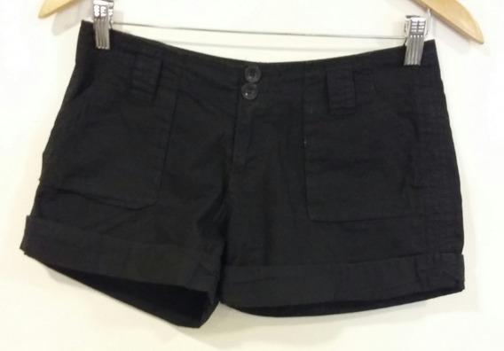Short Negro Jeans Con Bolsillos Tucci Talle Xs