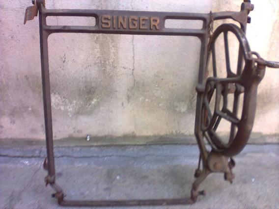 Pé De Maquina De Costura De Ferro Antigo Singer