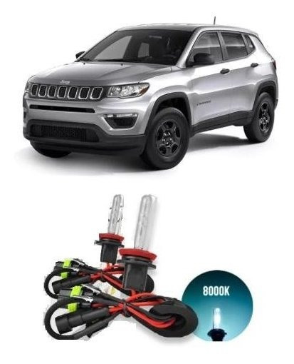 Xenon Farol Alto/baixo Jeep Compass 2016 Até 2020 8000k