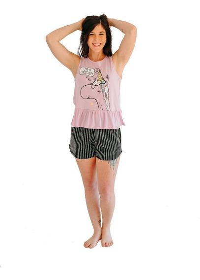 Pijamas Mujer Verano Unicornio Promesse 10401