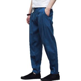 8295baa55d De Los Hombres Chino Estilo Algodón Lino Casual Pantalones