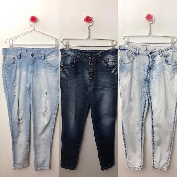 Lote Contendo 10 Calças Jeans