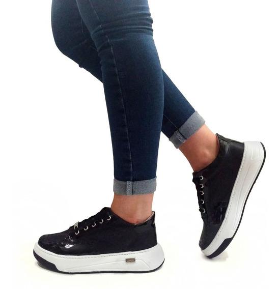Zapatillas Mujer Plataforma Sneakers Moda - Art. Flor