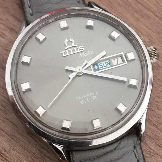 Relógio Automático Suíço Original Titus Vip 25j