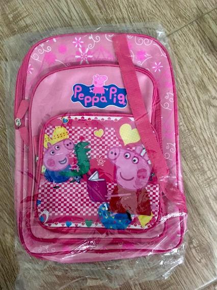 Mochila Infantil Escolar Peppa Pig Rosa