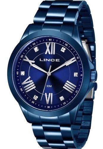 Relógio Lince Feminino Original Azul
