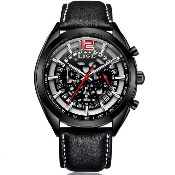 Relógio Lige Masculino Original Lg9857 Esportivo