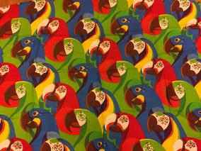 Canga Animais Brasil- Araras,pássaros, Tucanos