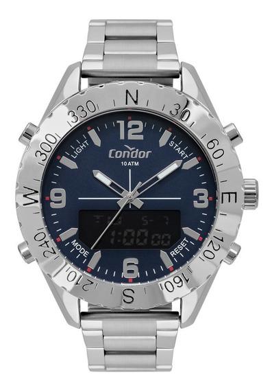 Relógio Condor Masculino Grande Anadigi Cobj3689ac/3a