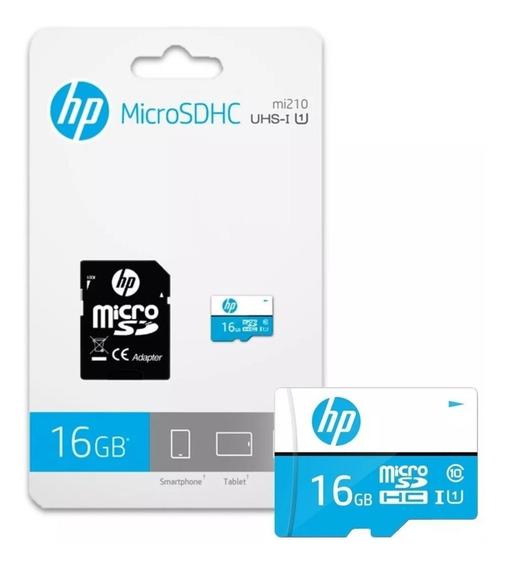 Cartão Memoria Microsd 16gb Hp Classe 10 Ultra 80mb/s