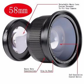 Lente Fisheye Olho De Peixe 52mm 0.35x + Macro - Nikon Canon