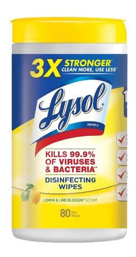 Lysol Toallas Desinfectante 80 - L a $39990