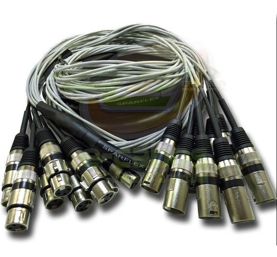 Multicabo Microfones Percussão Bateria 6 Vias 5 Metros Xlr
