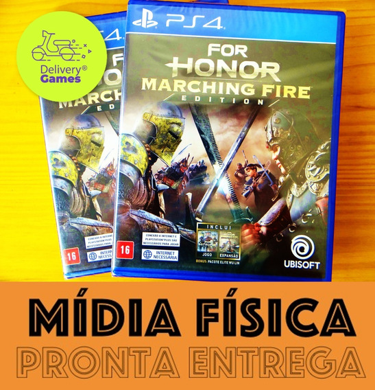 For Honor Marching Fire Ps4 Mídia Física Novo Lacrado