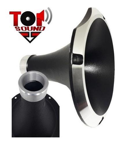 Cone Corneta Aluminio Preta Hl 1125 D250 Driver C/ Rosca