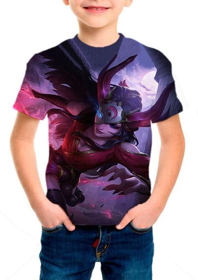 Camiseta Infantil League Of Legends Sivir Lua Sangrenta