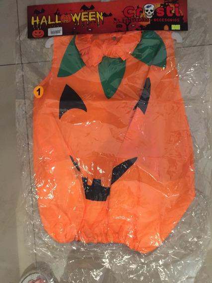 Disfraz Calabaza Halloween- Marca Crosti - Talle 1