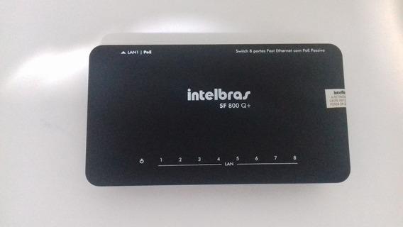 Switch 8 Portas Intelbras Fast Ethernet 10/100 Mbps Com Qos