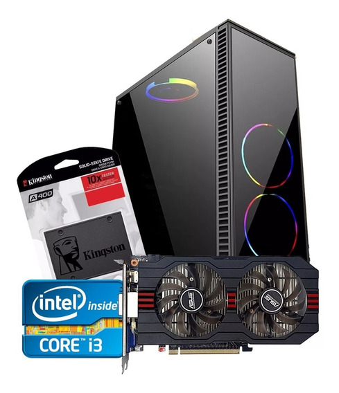 Pc Gamer Core I3 + Gtx 750ti 2gb + 4gb Memória + Ssd120 + Hd