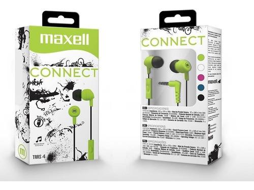 Audifono Maxell Con Microfono Connect In-345 Verde Nuevo